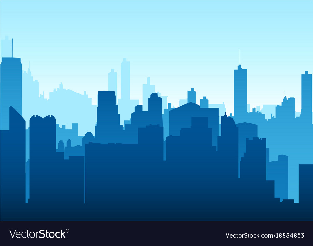 graphic of a cityscape royalty free vector image rh vectorstock com cityscape vector free Tokyo Cityscape Silhouette