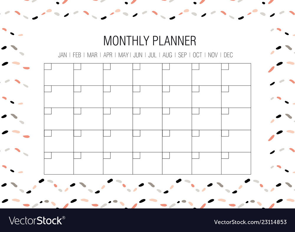 photograph relating to Monthly Planner Template named Regular planner template
