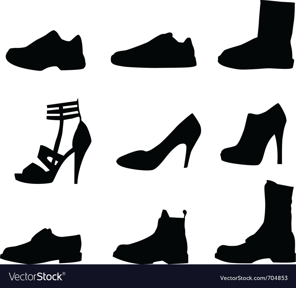 Nine shoes silhouettes