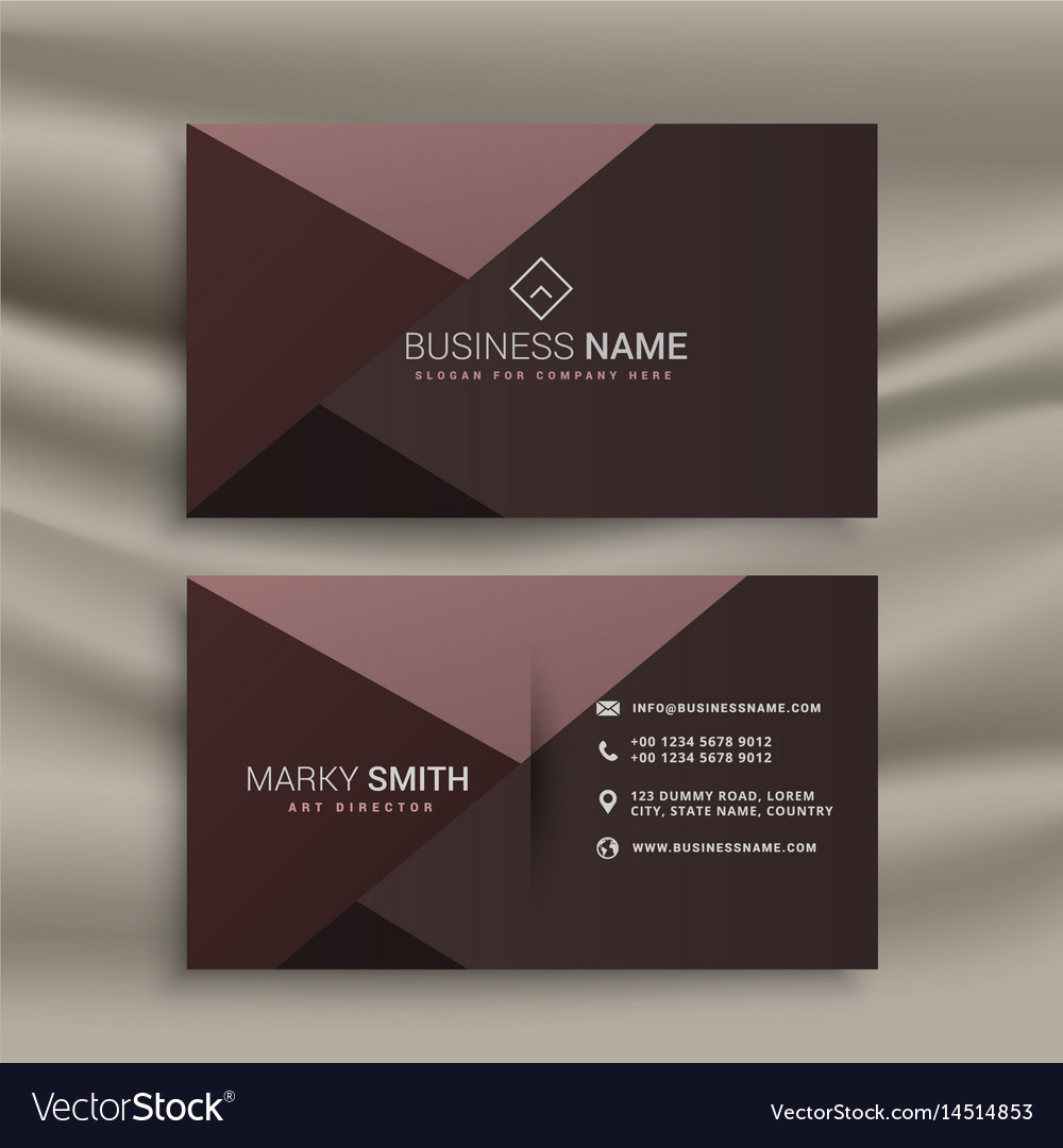 Professional dark business card design template vector image wajeb