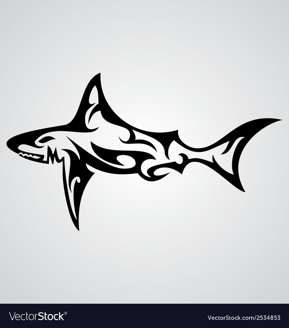 2536a71fe9e7b Shark Tattoo Royalty Free Vector Image - VectorStock