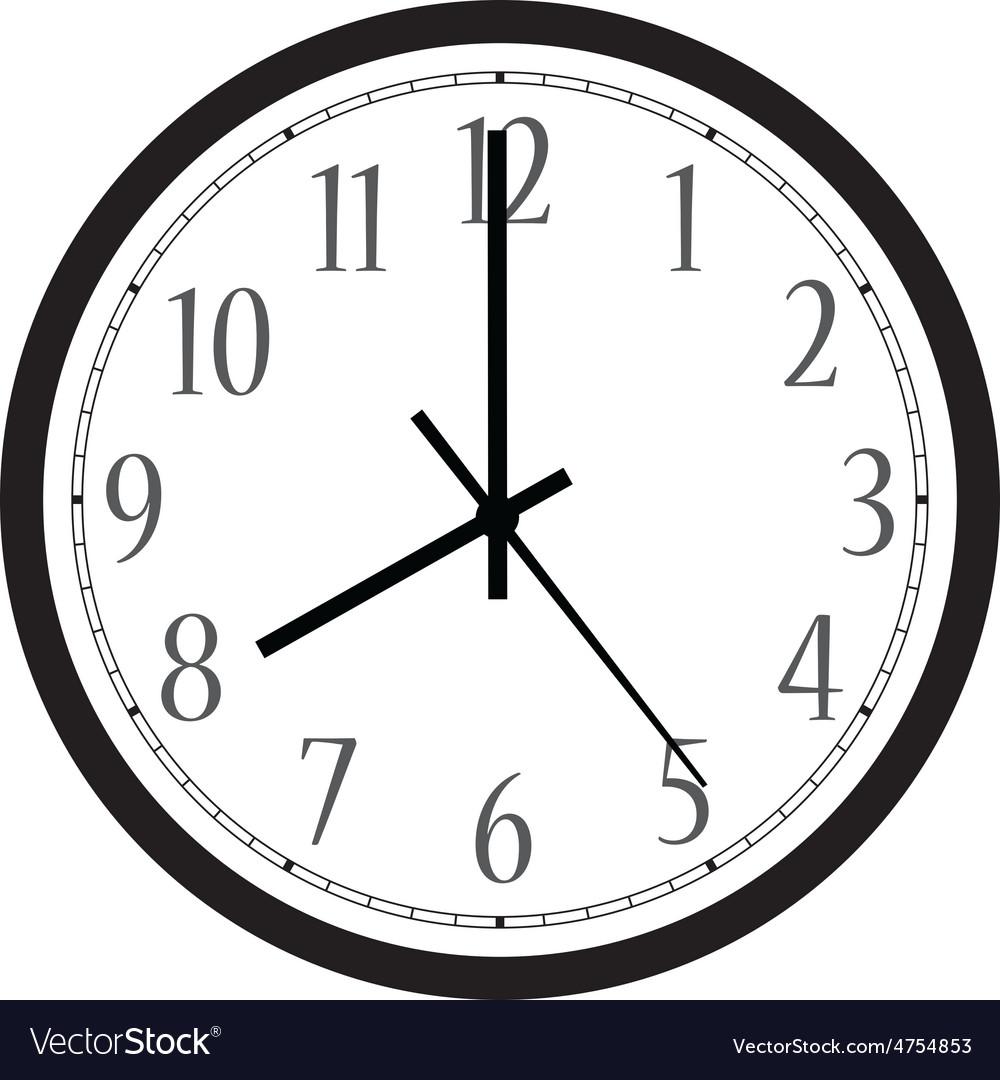 Wall Clock Royalty Free Vector Image Vectorstock