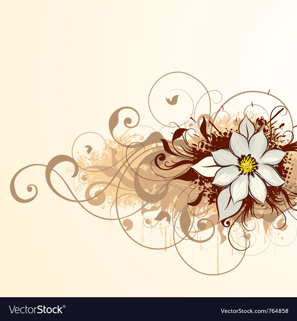 abstract floral design royalty free vector image