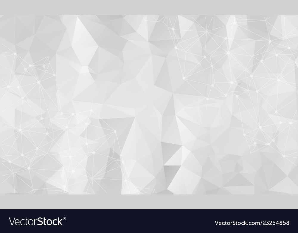 Abstract low poly gray technology background