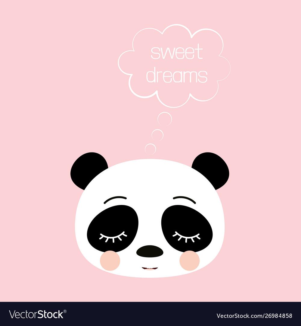 Cute sleeping panda