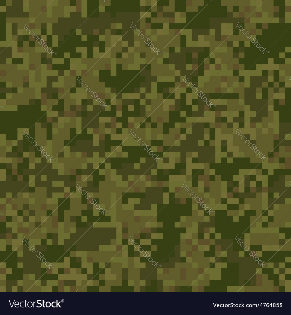 Green digit camouflage seamless pattern