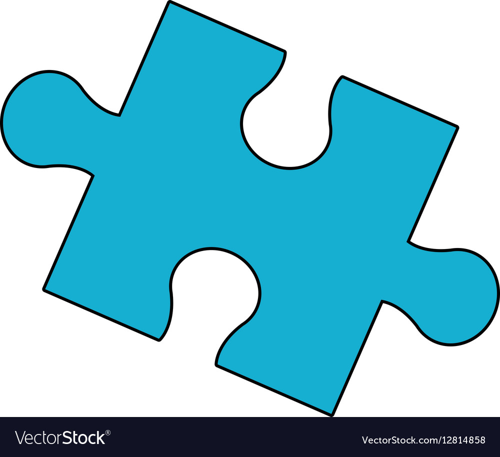 jigsaw puzzle icon royalty free vector image vectorstock rh vectorstock com puzzle vector file free puzzle vector free download
