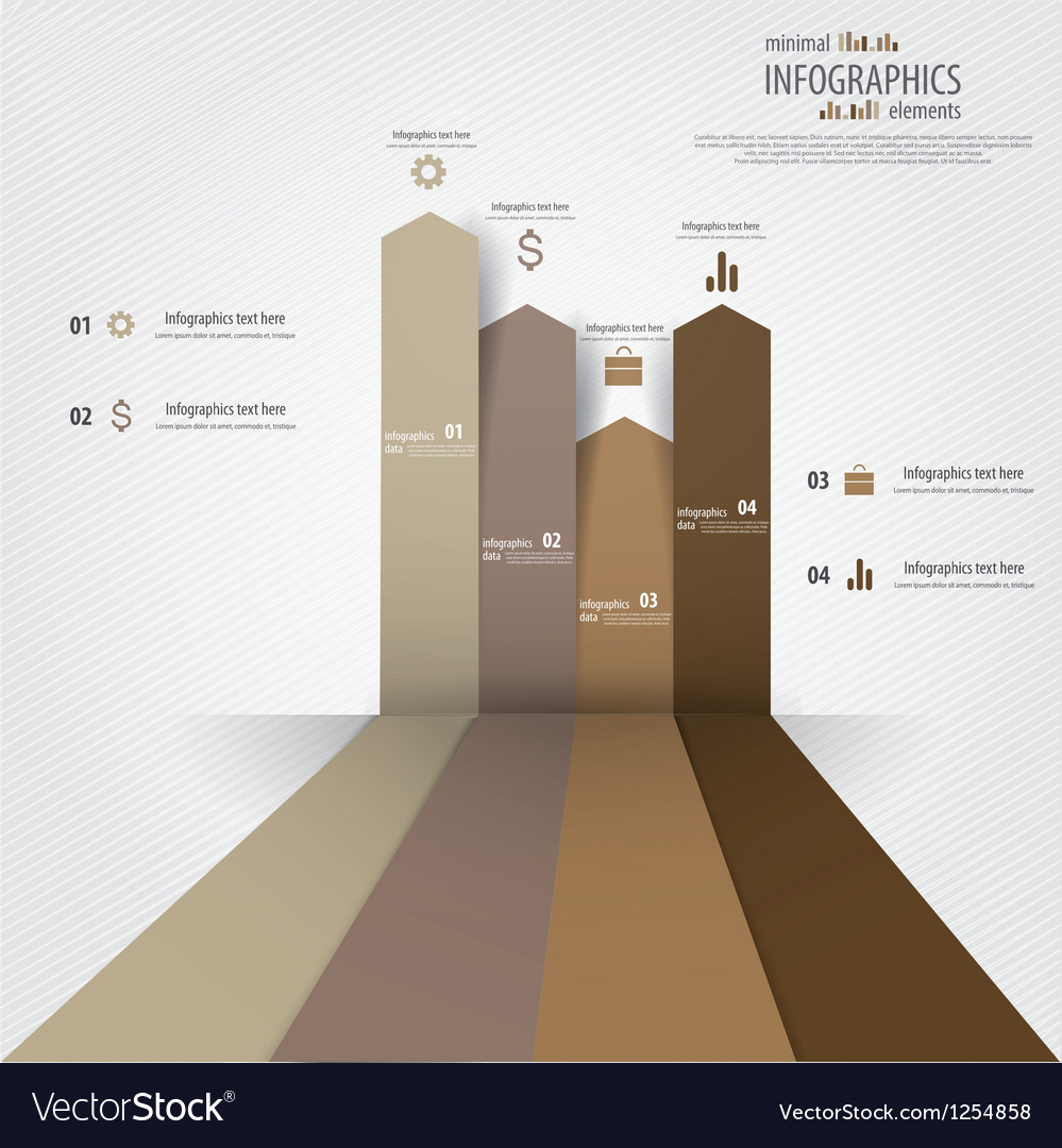Minimal infographics design elements