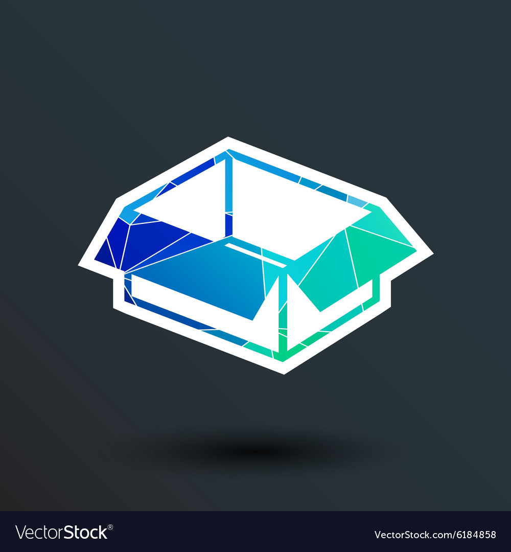 Package icon button logo symbol concept