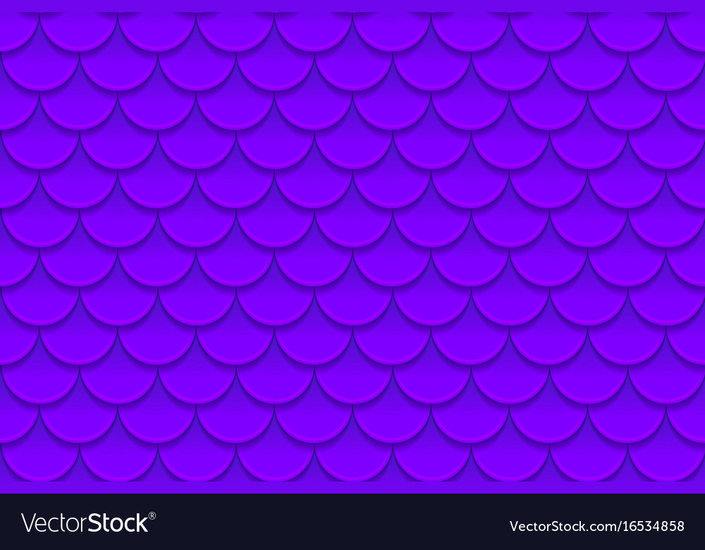 Seamless pattern of colorful violet purple fish
