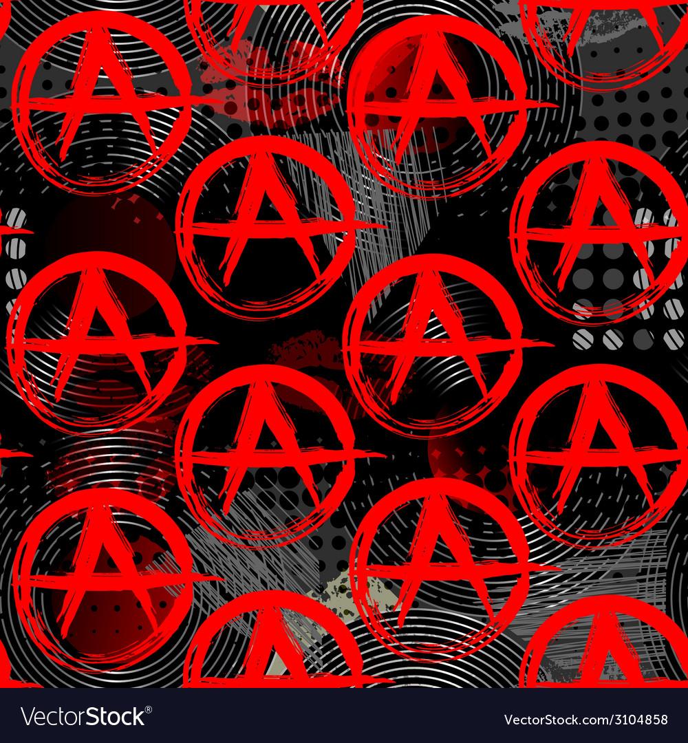 Symbols Of Anarchy Punk Pattern Royalty Free Vector Image