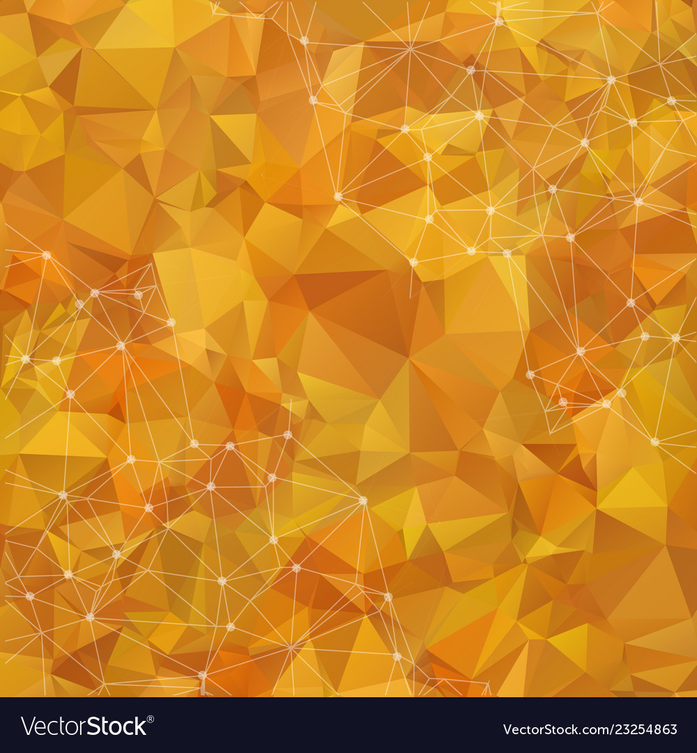 Abstract low poly yellow technology background