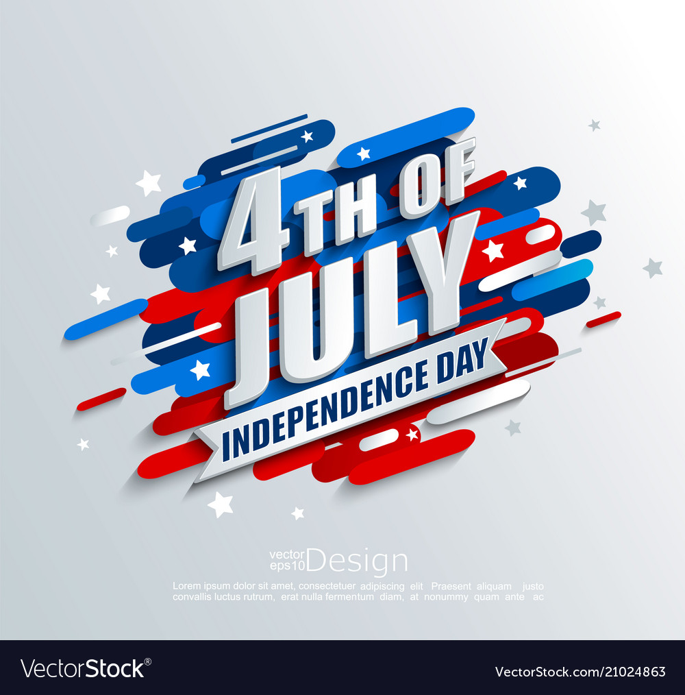 Banner for independence day usa vector