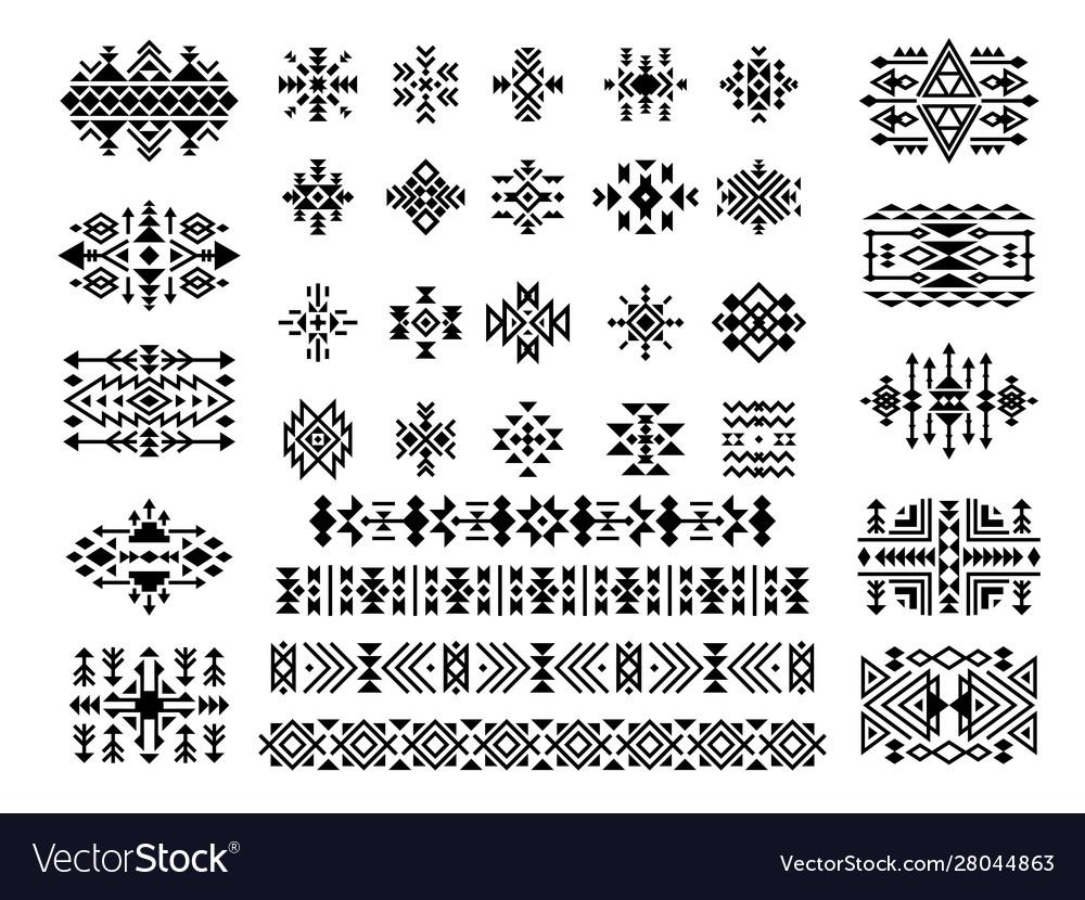 Ethnic elements african native aztec art tattoo