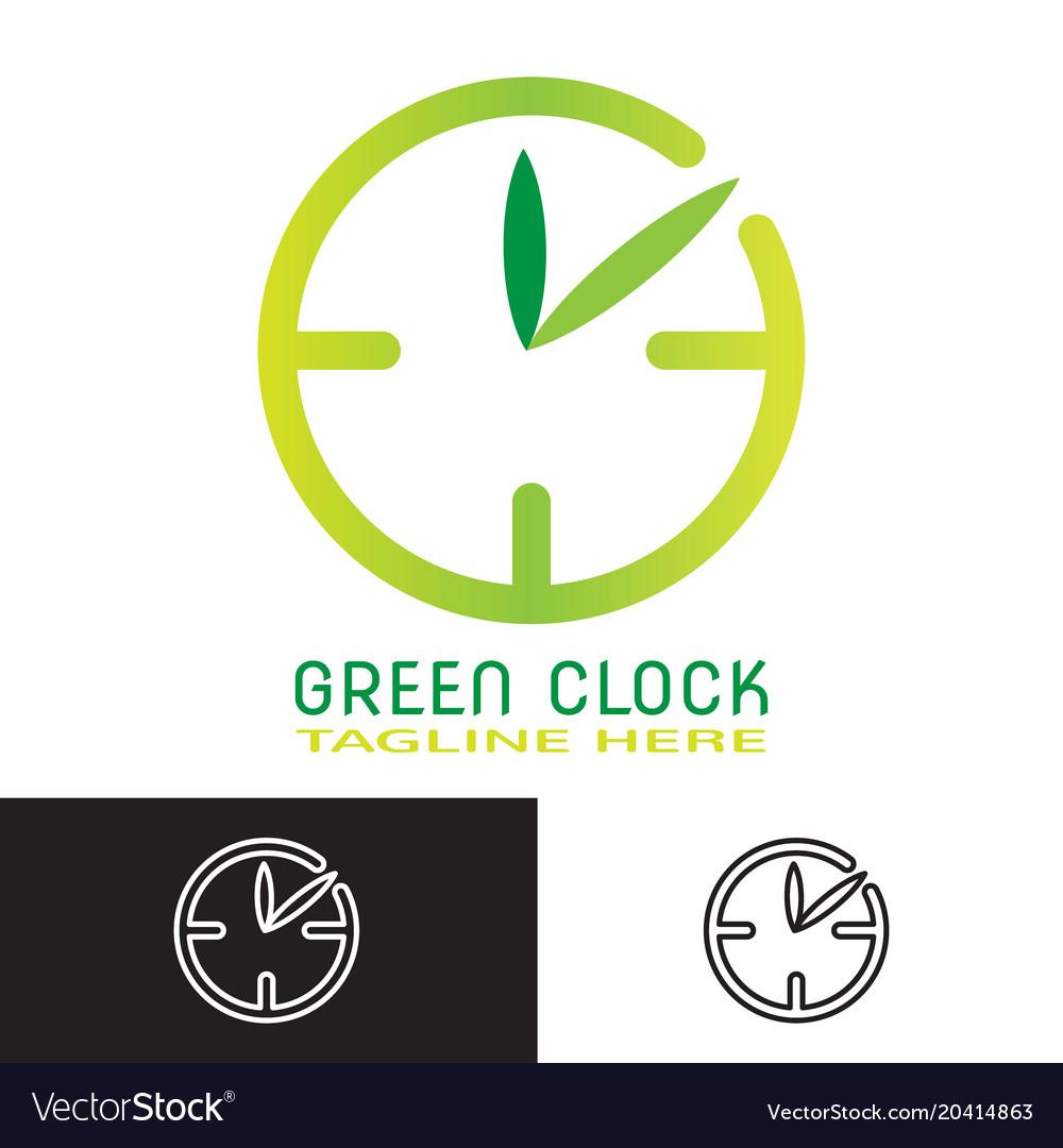 Greenclock vector image
