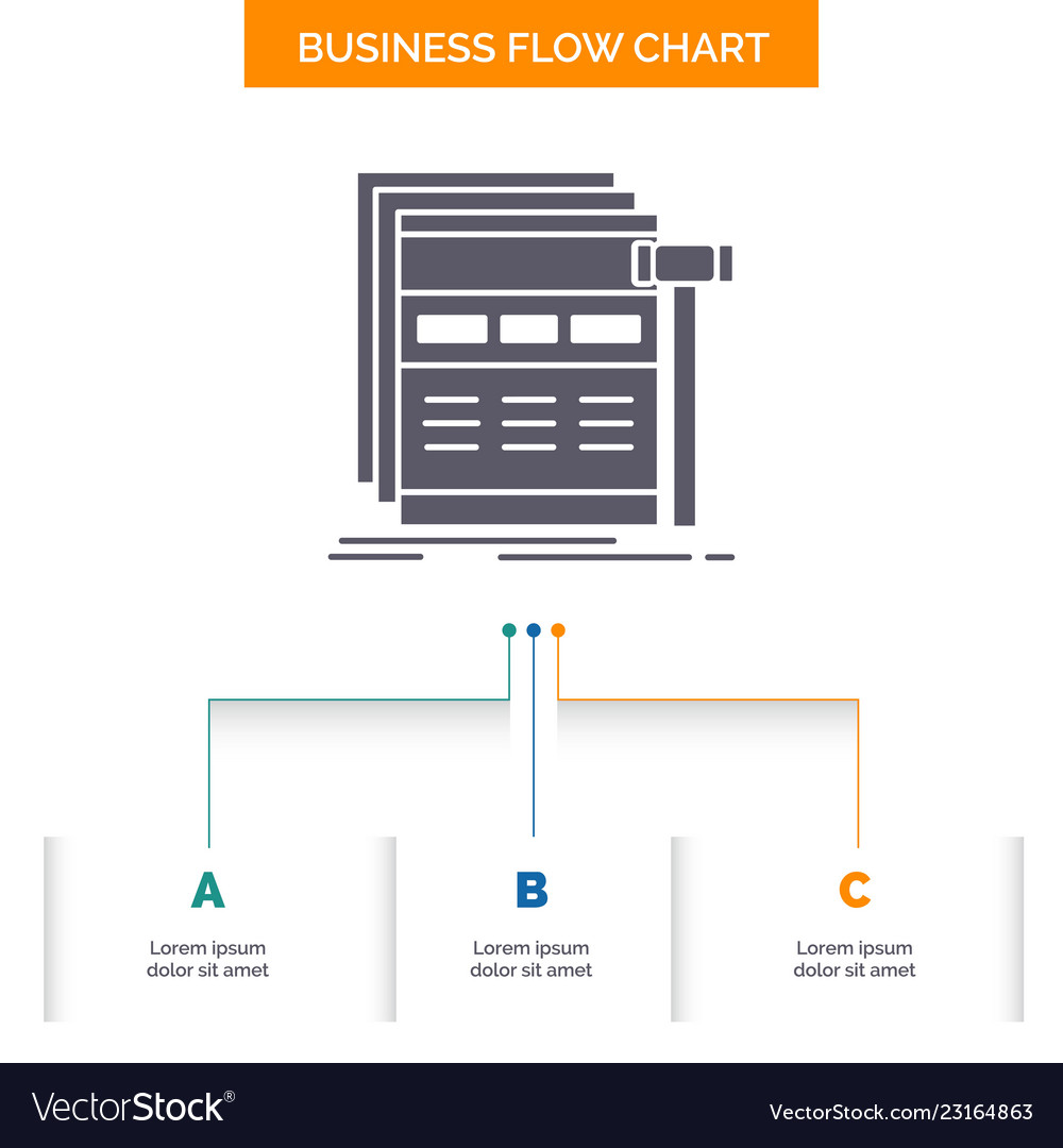 Internet page web webpage wireframe business flow