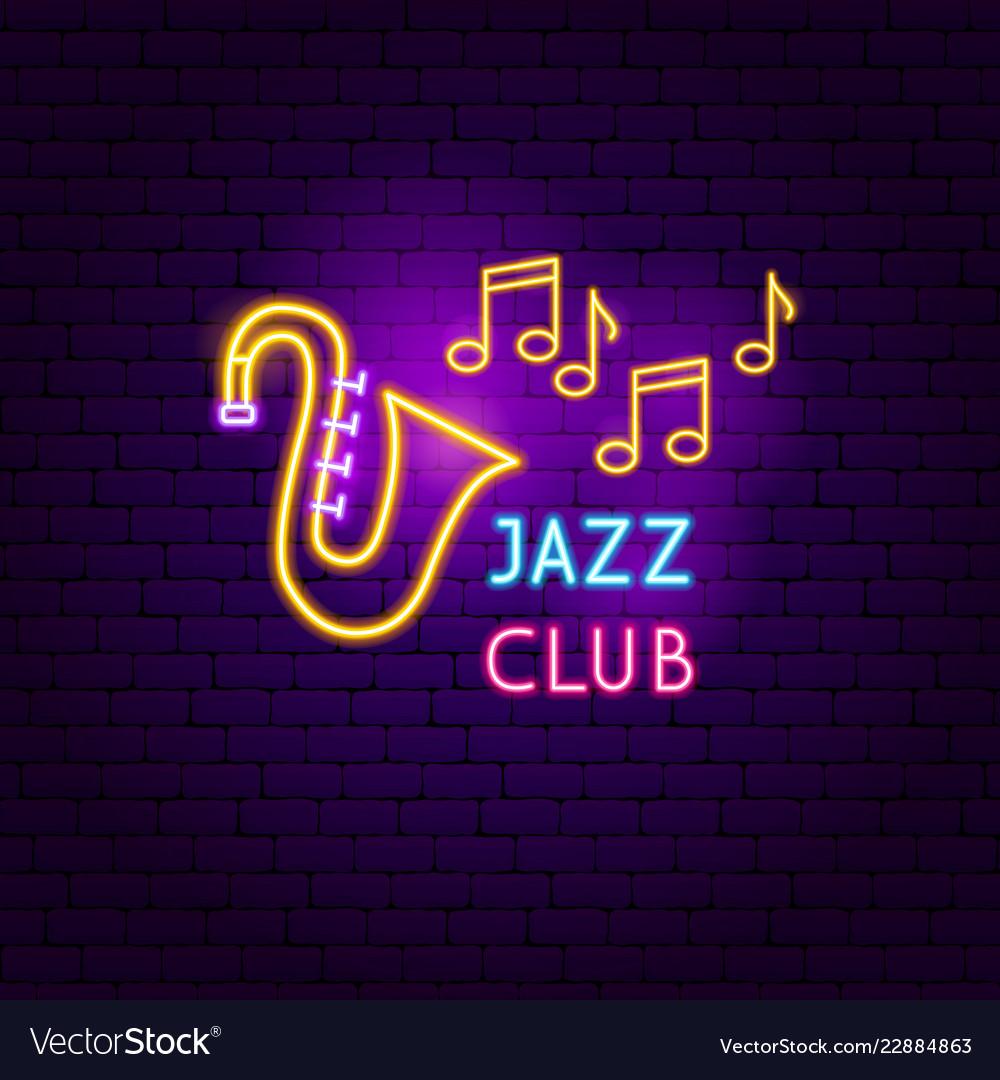 Jazz club neon sign