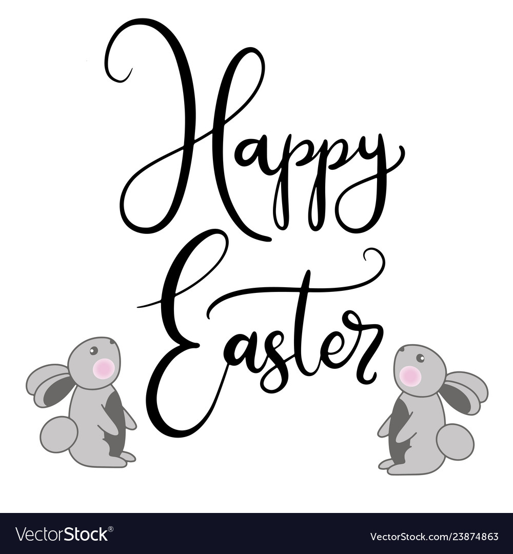 Lettering for happy easter