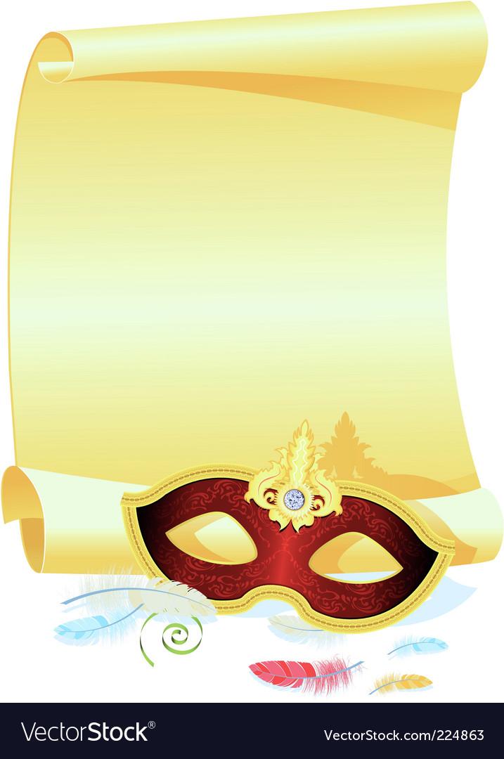 Masquerade Invitation Vector Image