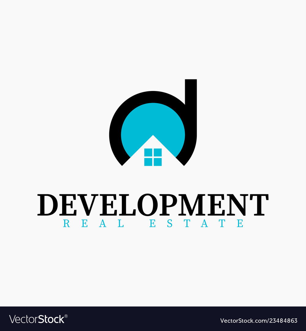 Real estate initial letter d logo design template