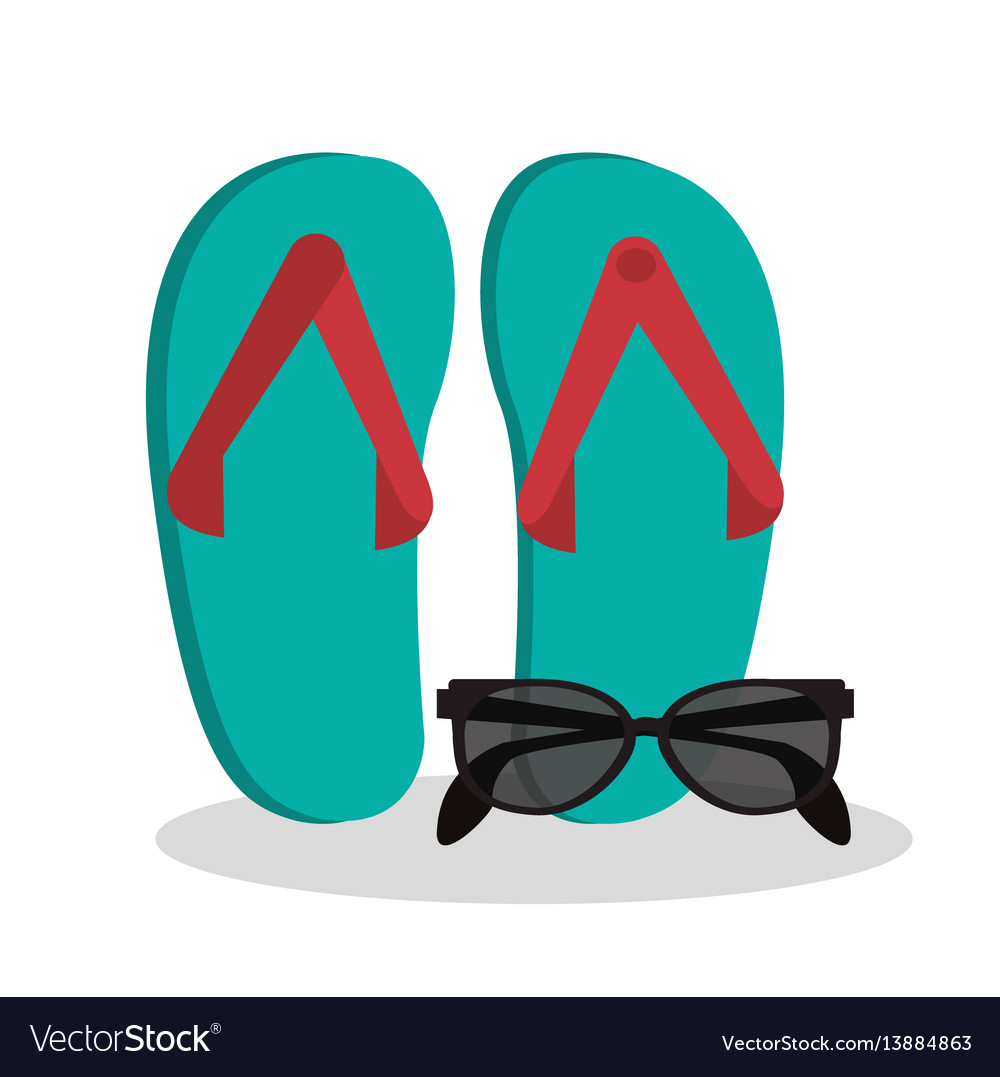 Sandals sunglasses beach vacation