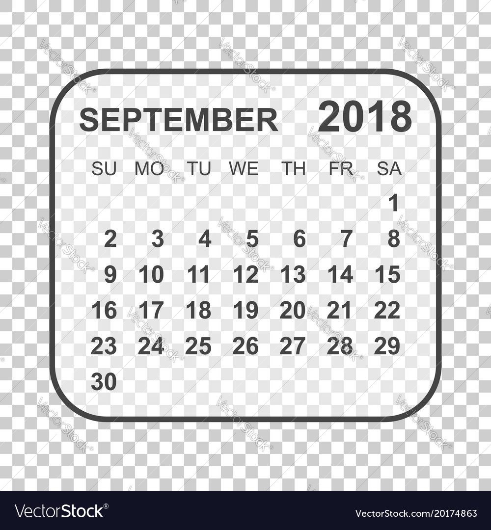 September 2018 calendar calendar planner design
