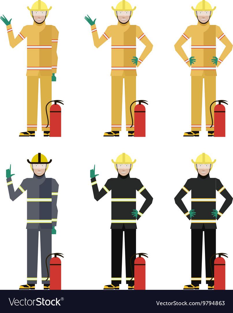 Set of Firemen