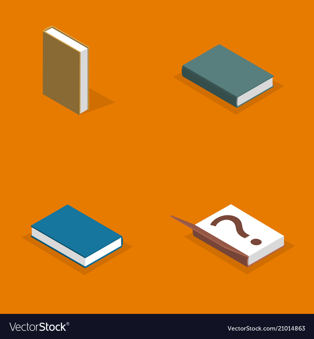 Set of flat books in 3d