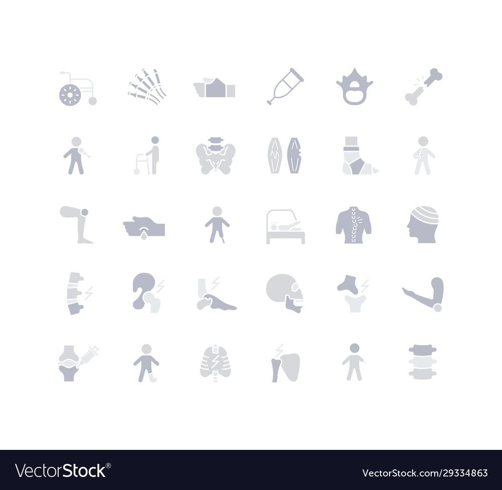 Set simple icons traumatology
