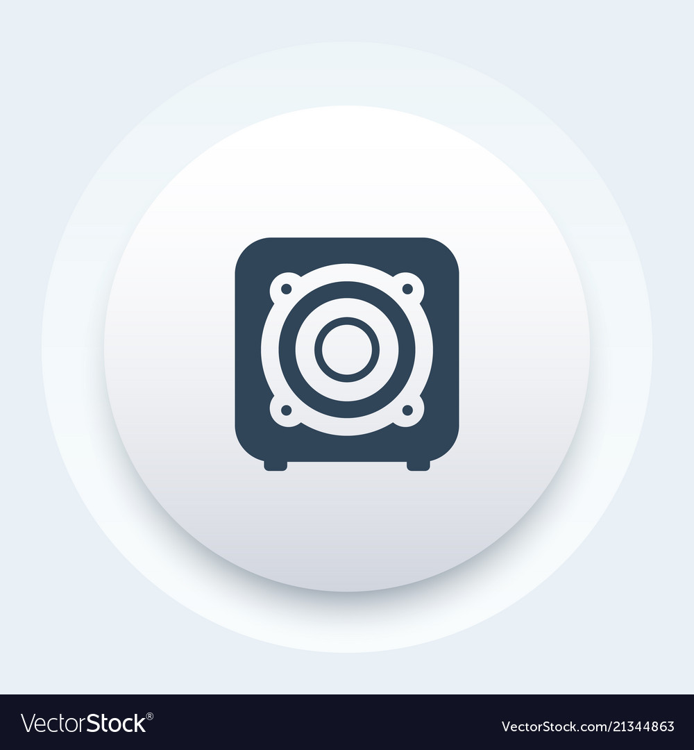 Subwoofer audio speaker icon