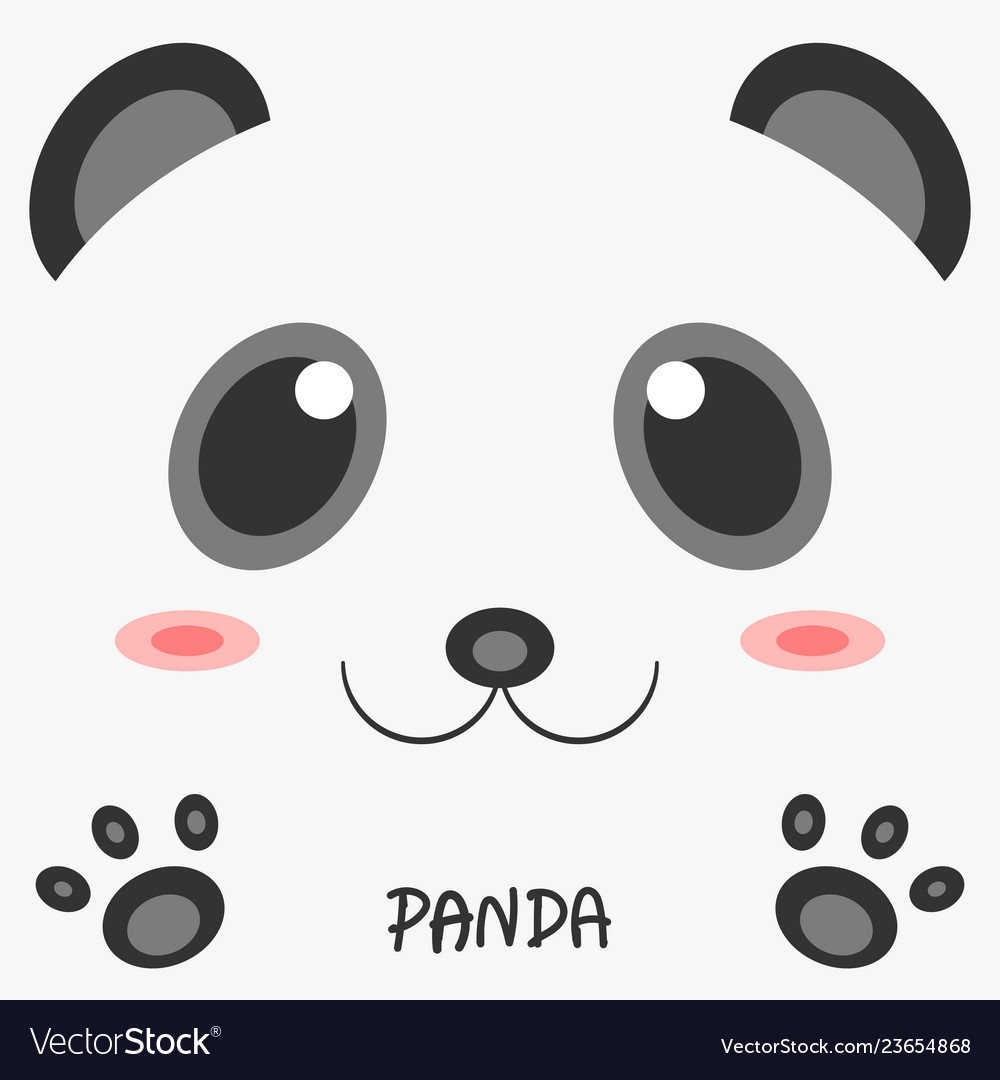 Abstract drawing animal panda picture 2d design