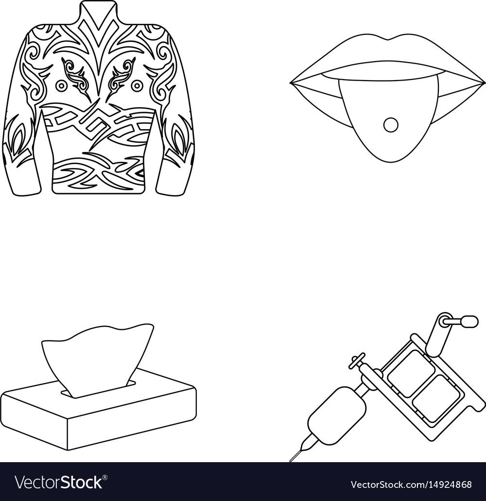 Body tattoos piercings napkins tattoo machine