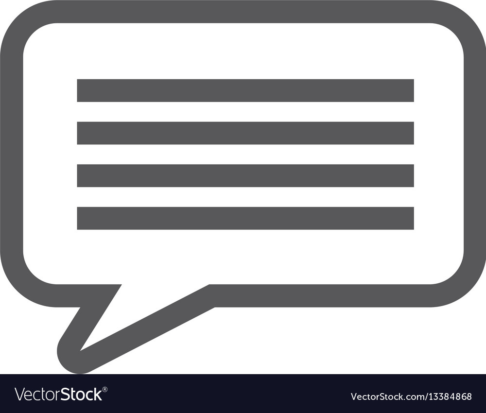 Grayscale contour with callout speech vector image