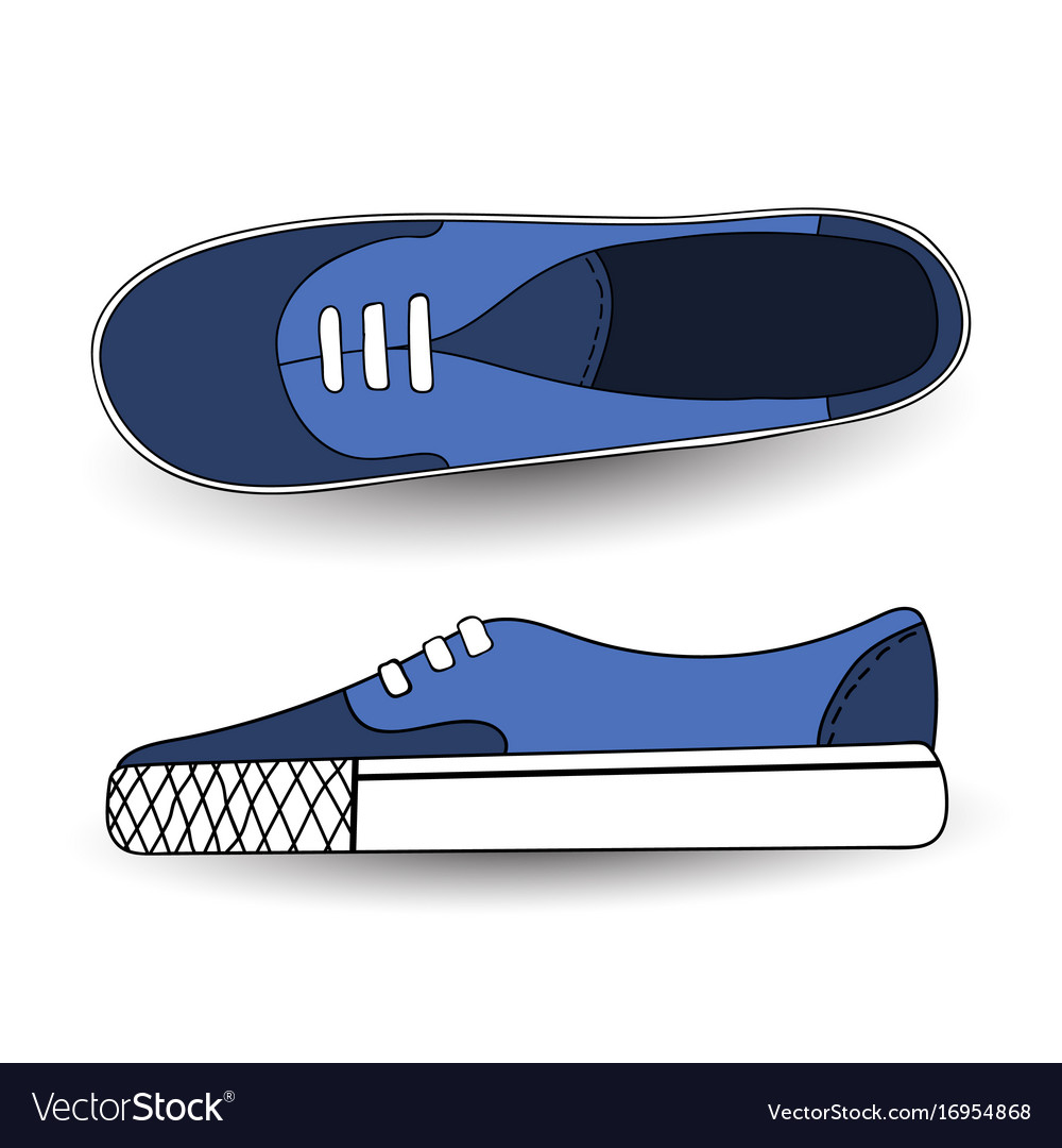 Hand drawn drawing blue vector image
