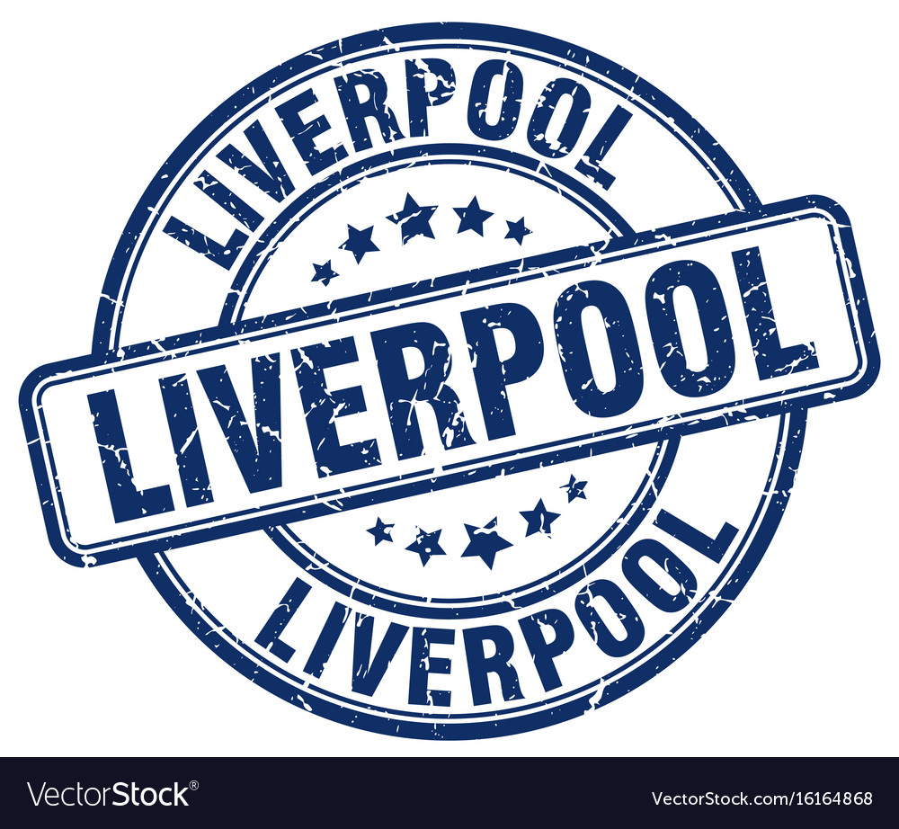 Liverpool stamp Vector Image