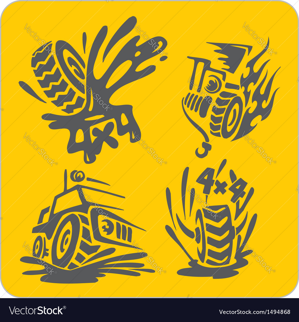 Off-Road symbols - set Royalty Free Vector Image