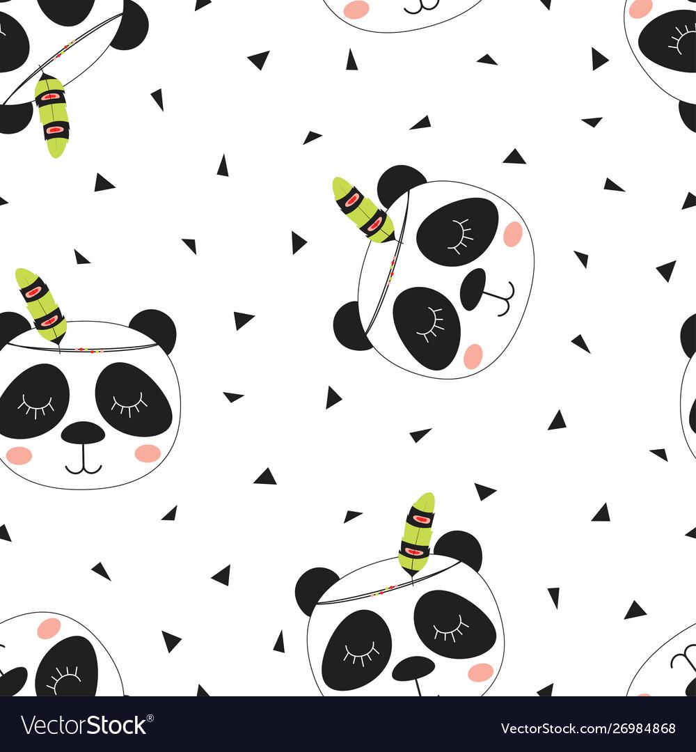Pattern cute tribal panda