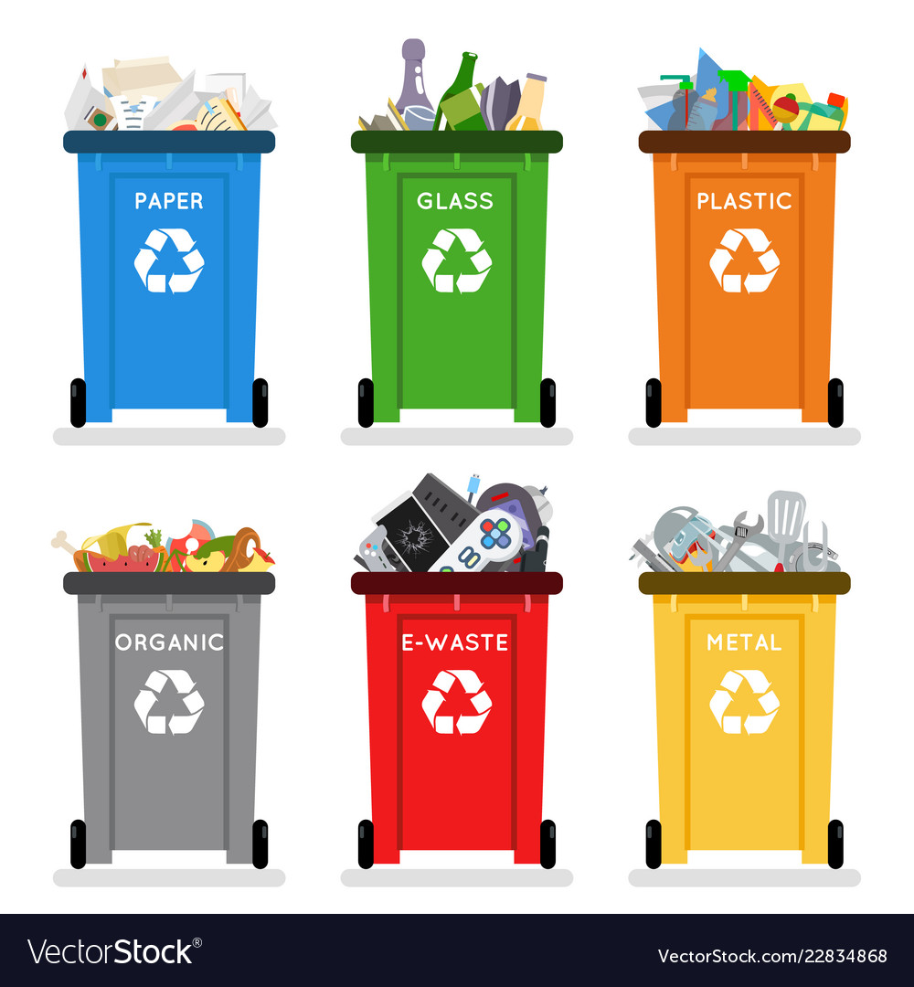 Recycling Garbage Cans Trash Separation
