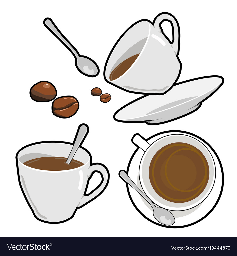 Coffee cup and bean