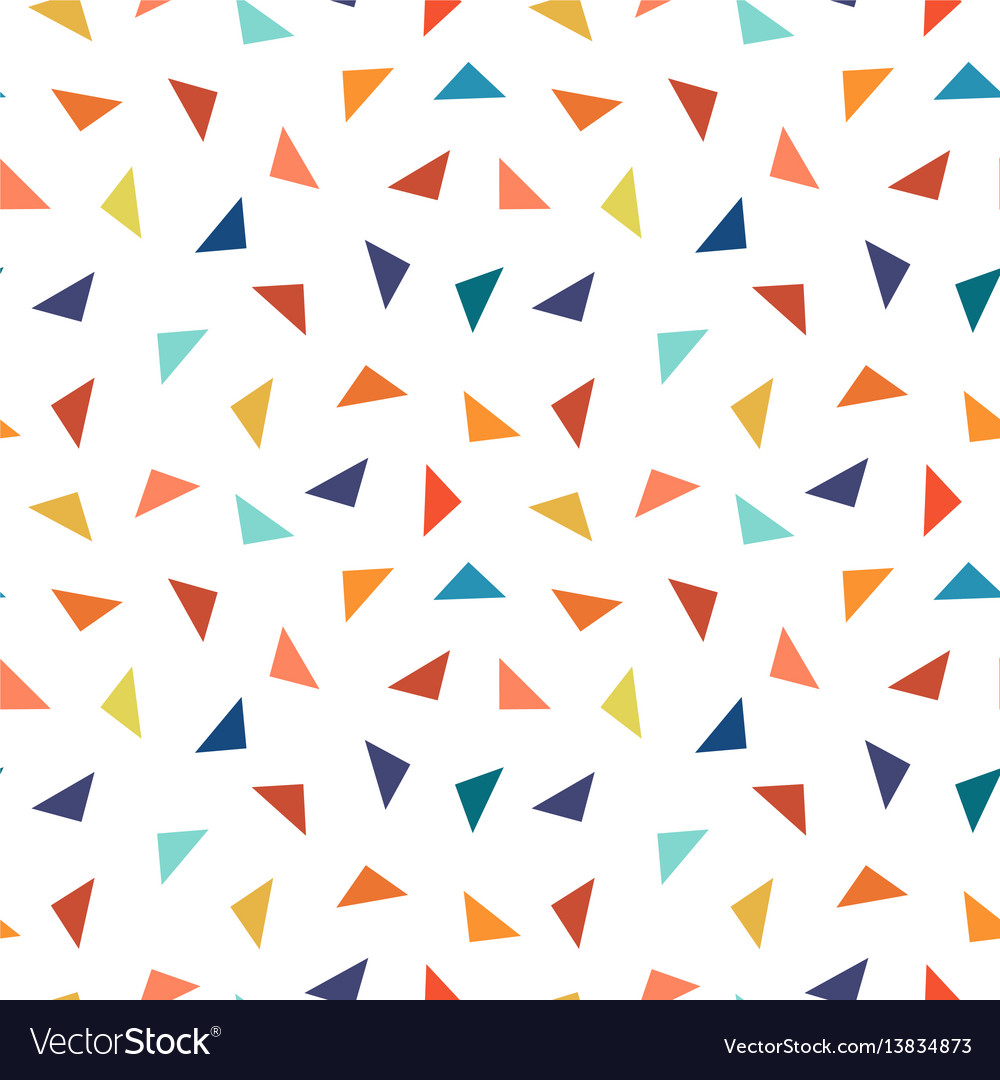 Colorful geometric seamless pattern with triangles