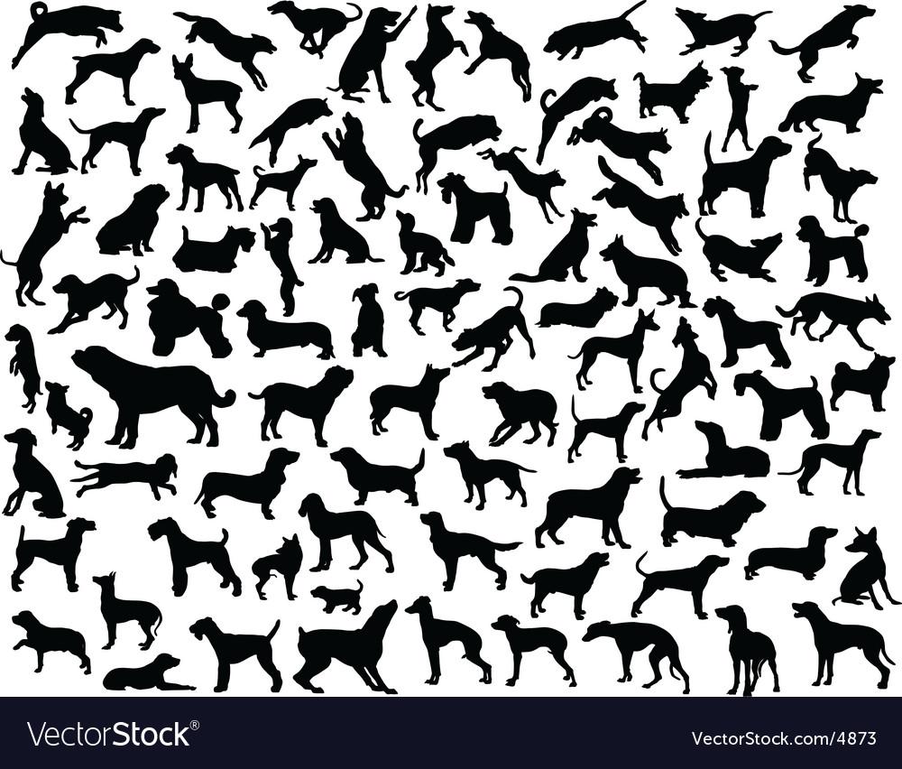 Dog outlines
