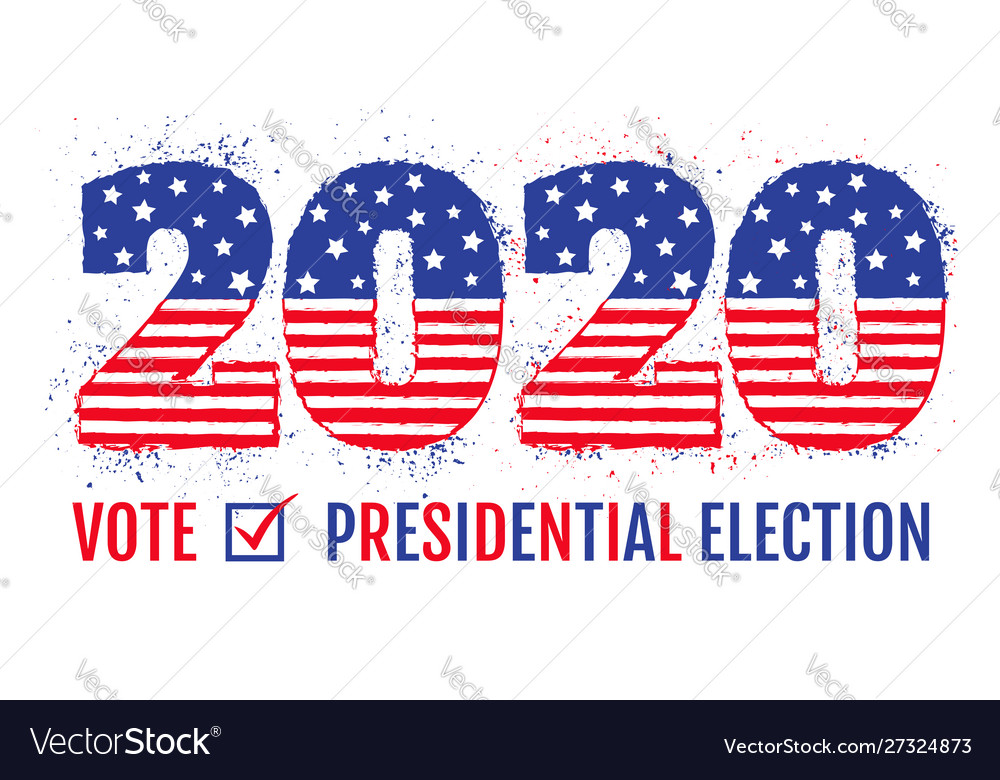 Election 2020 like american flag