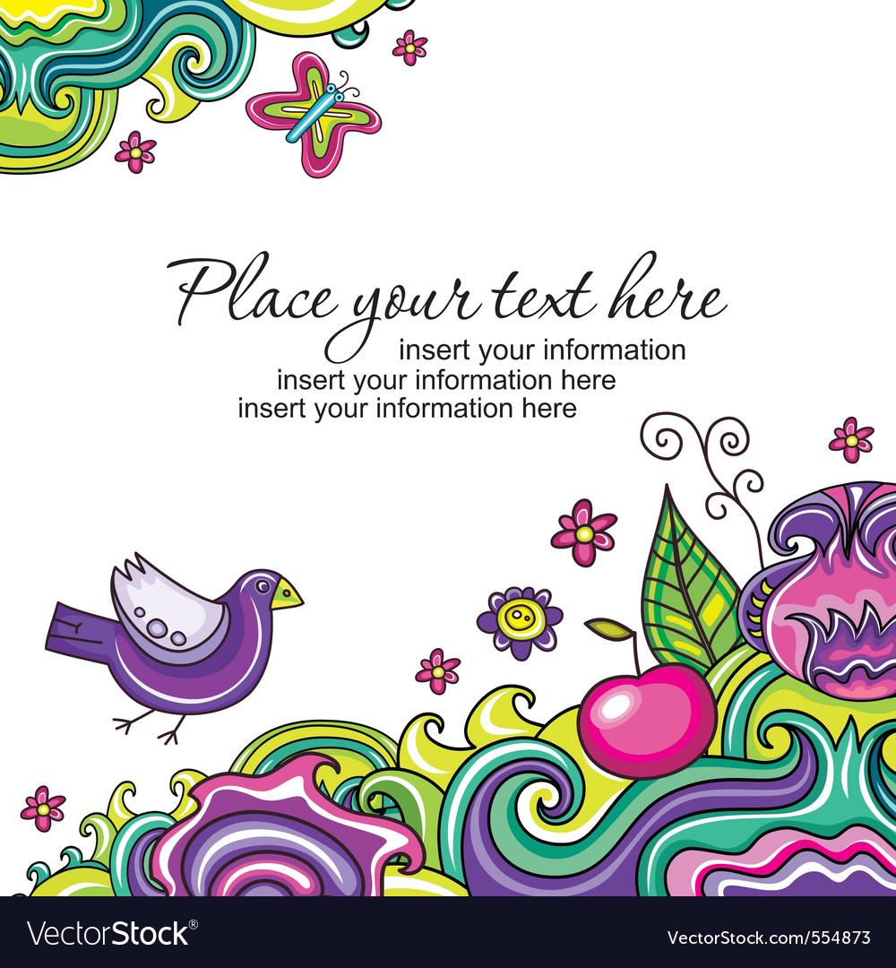 Floral card series 12