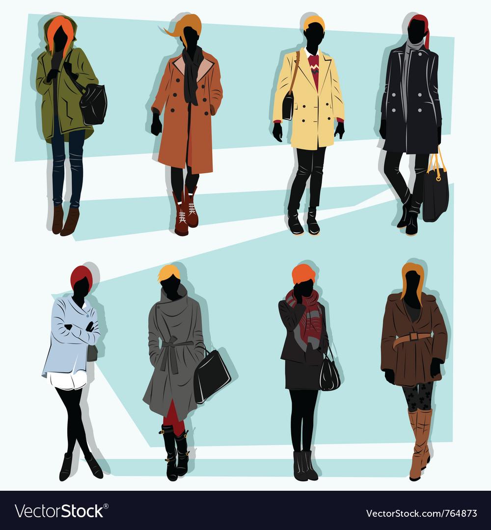 London fashion street model fall