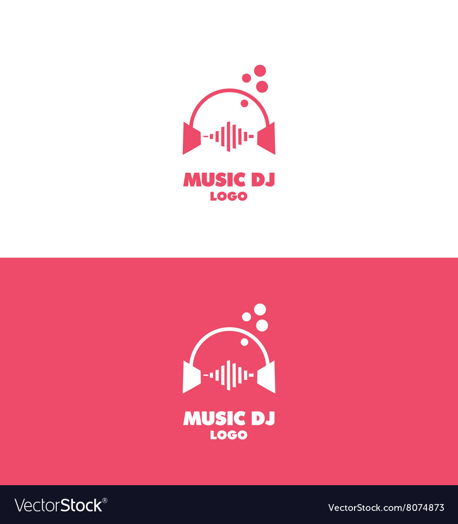 Music dj headphones logo volume