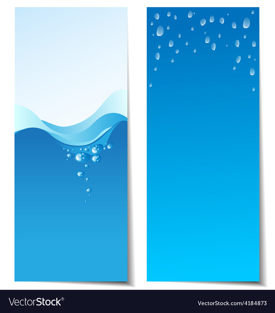 Set of abstract water banners