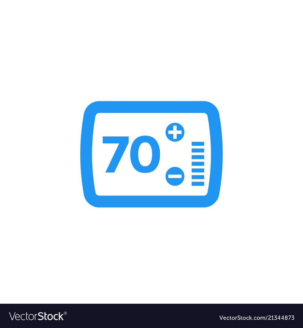 thermostat icon on white royalty free vector image