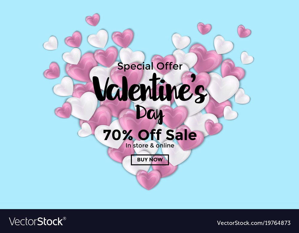 Valentines day card or sale banner 3