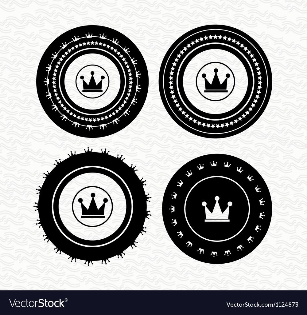 Vintage retro empty labels badges stamps icon vector image