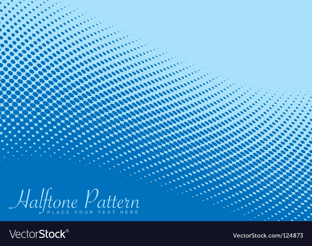 Wave halftone pattern vector image